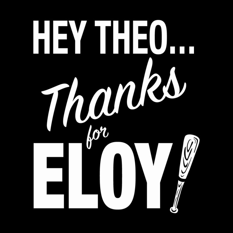 Thanks for Eloy! 01 • Women's • Baseball white Women's Longsleeve T-Shirt by Brian Harms