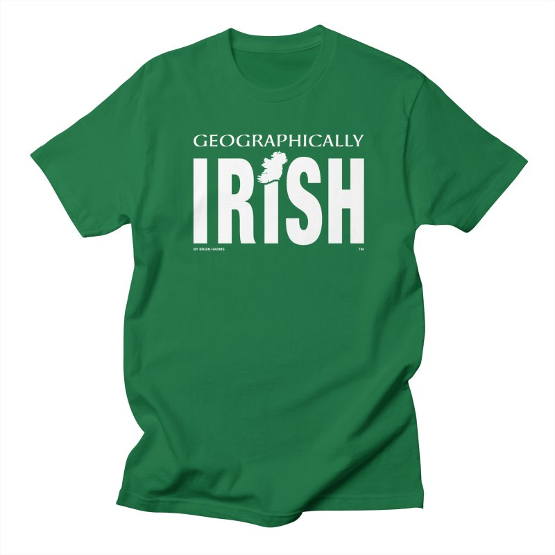 Geographically Irish in Men's Regular T-Shirt Kelly Green by Brian Harms