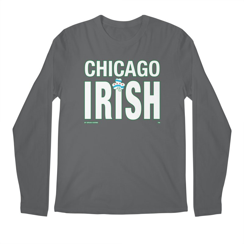 Chicago Irish with Shamrock Men's Longsleeve T-Shirt by Brian Harms