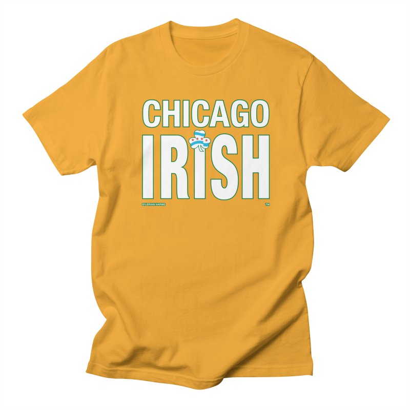 Chicago Irish with Shamrock Men's T-Shirt by Brian Harms