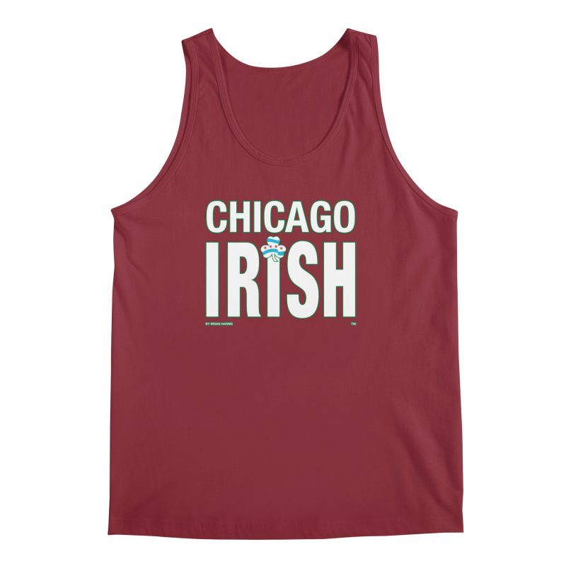 Chicago Irish with Shamrock Men's Tank by Brian Harms