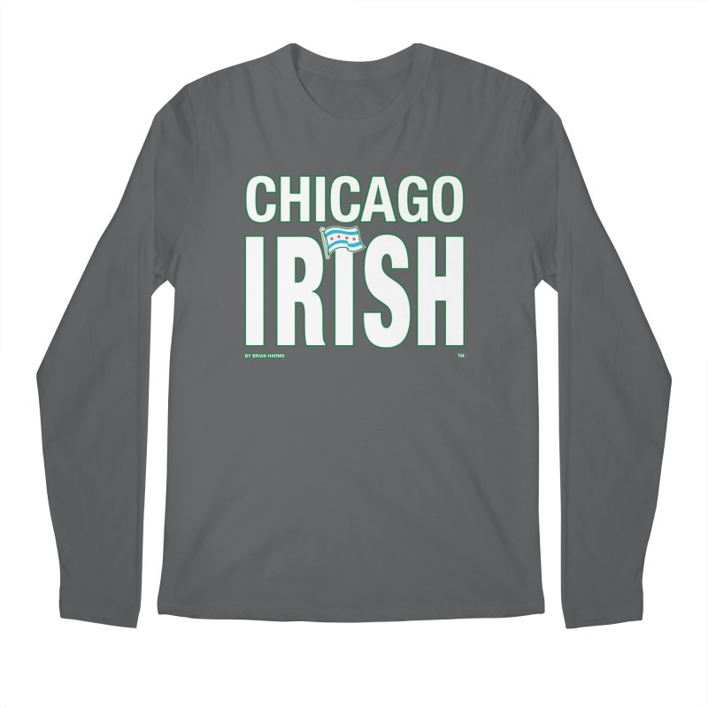Chicago Irish with Flag Men's Longsleeve T-Shirt by Brian Harms