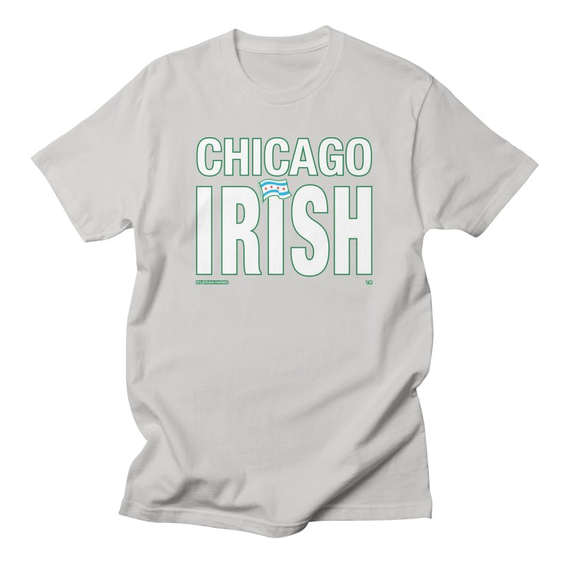 Chicago Irish with Flag Men's T-Shirt by Brian Harms