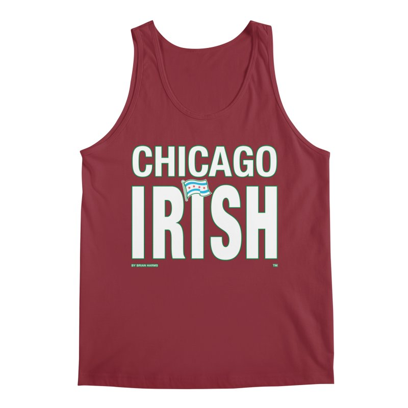 Chicago Irish with Flag Men's Tank by Brian Harms