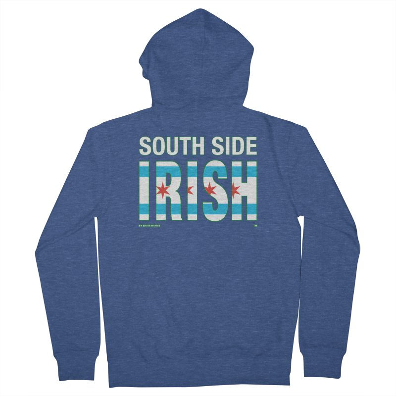 South Side Irish 2 Men's French Terry Zip-Up Hoody by Brian Harms