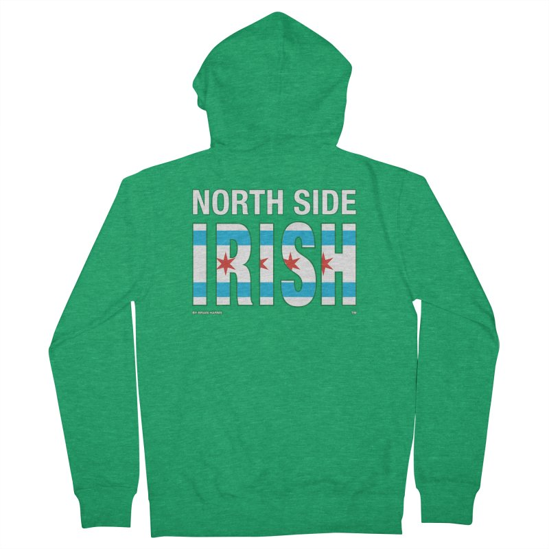 North Side Irish 2 Men's Zip-Up Hoody by Brian Harms