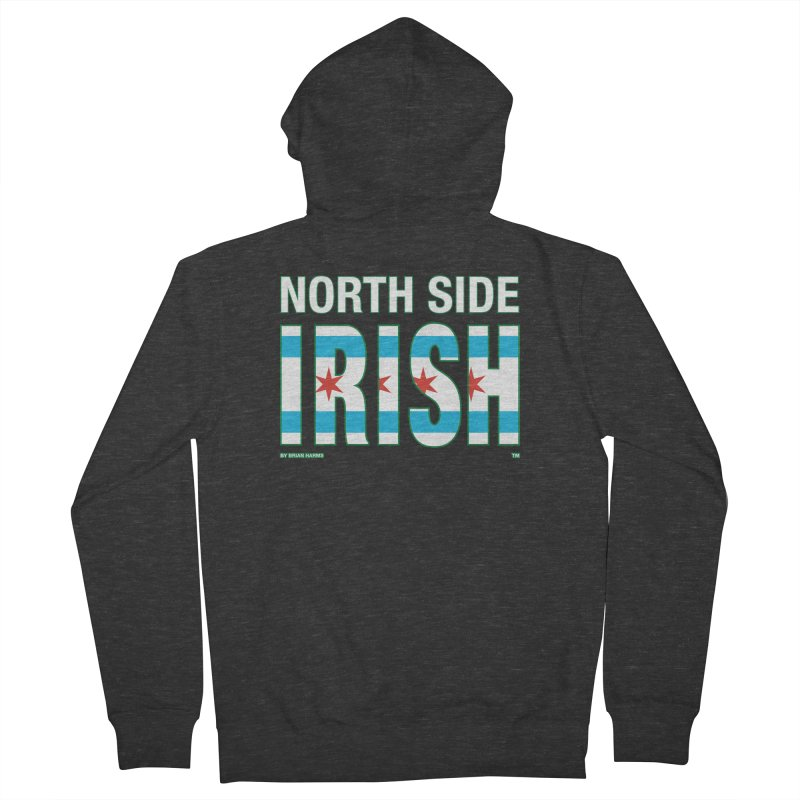 North Side Irish 2 Men's French Terry Zip-Up Hoody by Brian Harms
