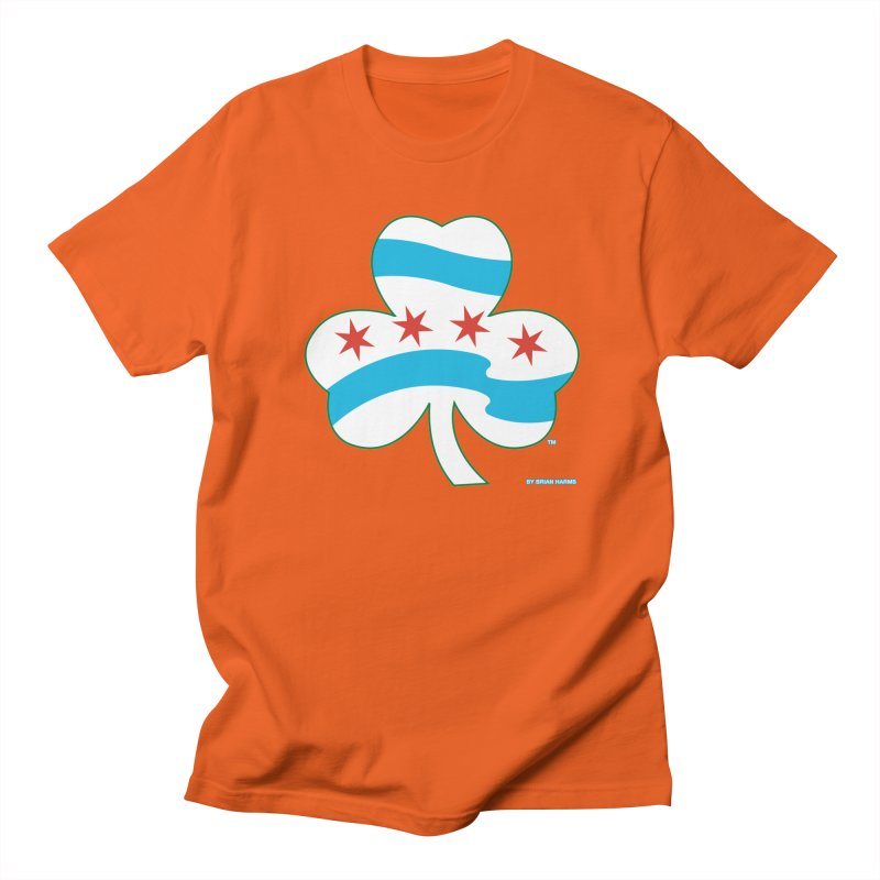 Chicago Shamrock Men's T-Shirt by Brian Harms