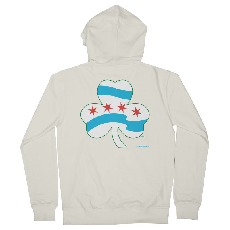 Chicago Shamrock Men's French Terry Zip-Up Hoody by Brian Harms