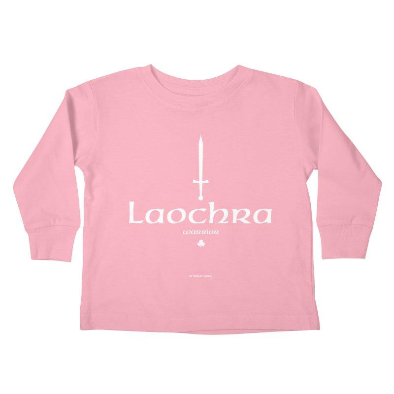 Irish Language Warrior Kids Toddler Longsleeve T-Shirt by Brian Harms