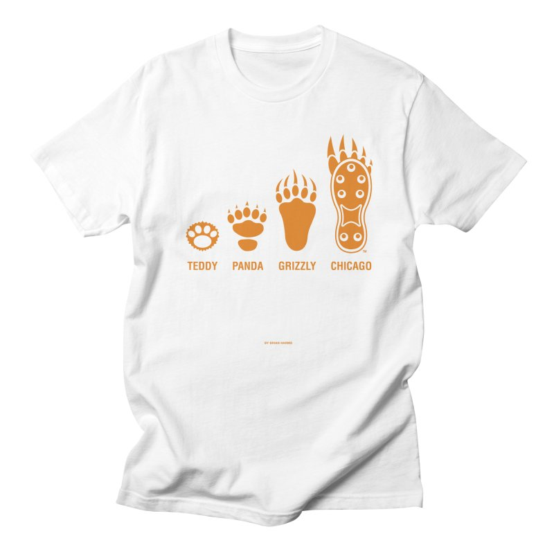 Bear Paws Orange Men's Regular T-Shirt by Brian Harms