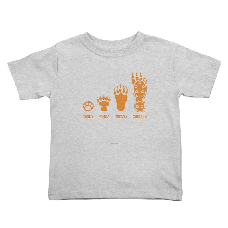 Bear Paws Orange Kids Toddler T-Shirt by Brian Harms