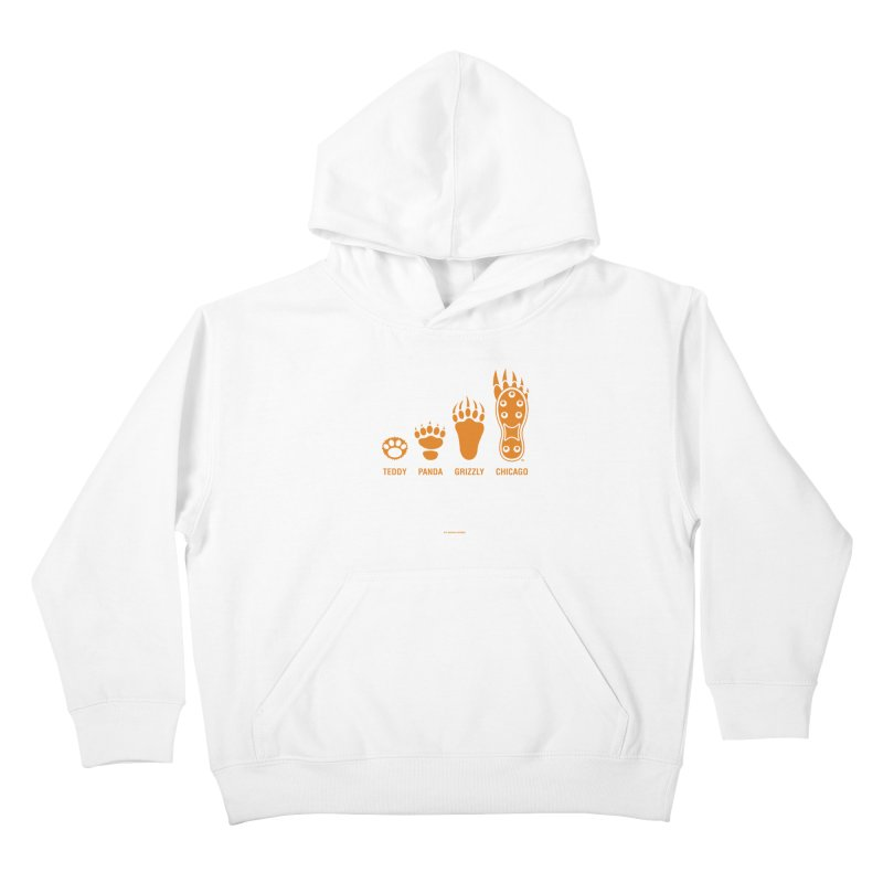 Bear Paws Orange Kids Pullover Hoody by Brian Harms