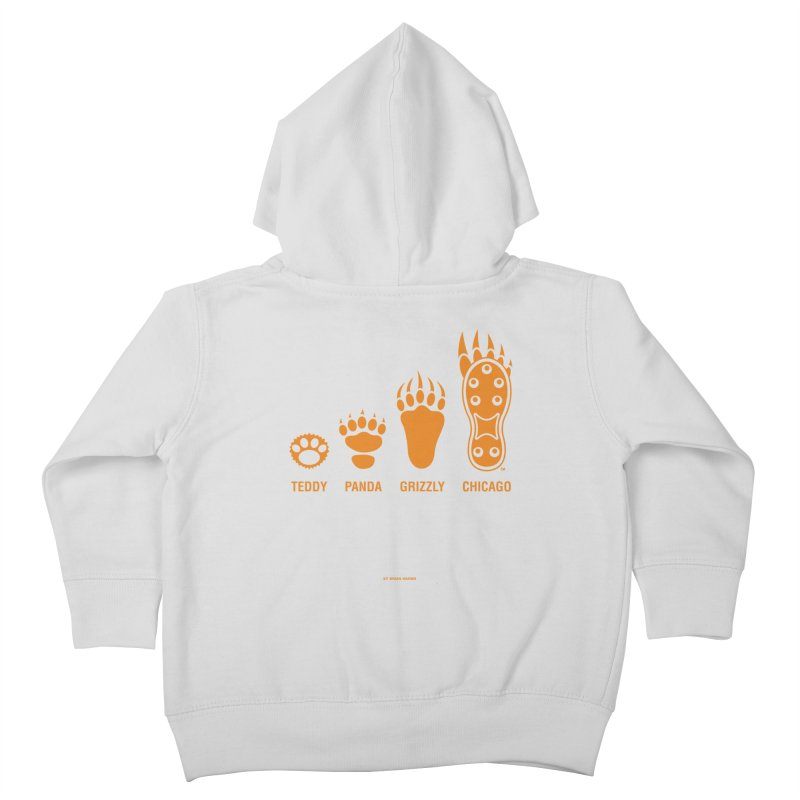 Bear Paws Orange Kids Toddler Zip-Up Hoody by Brian Harms