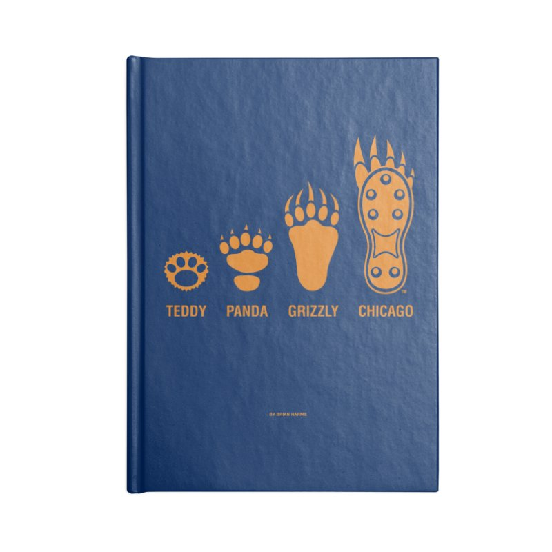 Bear Paws Orange Accessories Blank Journal Notebook by Brian Harms