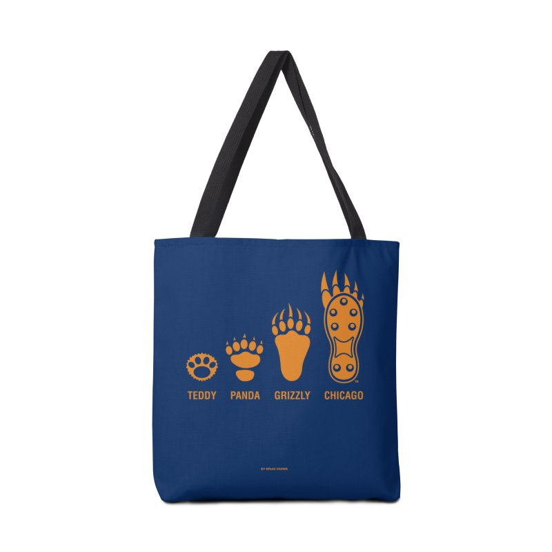 Bear Paws Orange Accessories Tote Bag Bag by Brian Harms