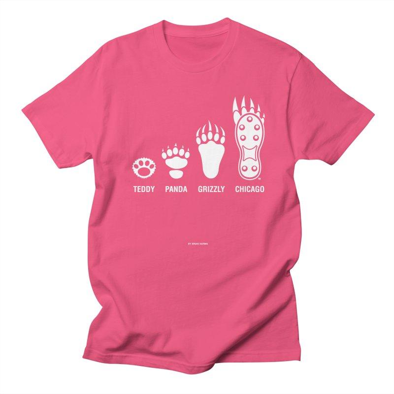 Bear Paws White Men's Regular T-Shirt by Brian Harms