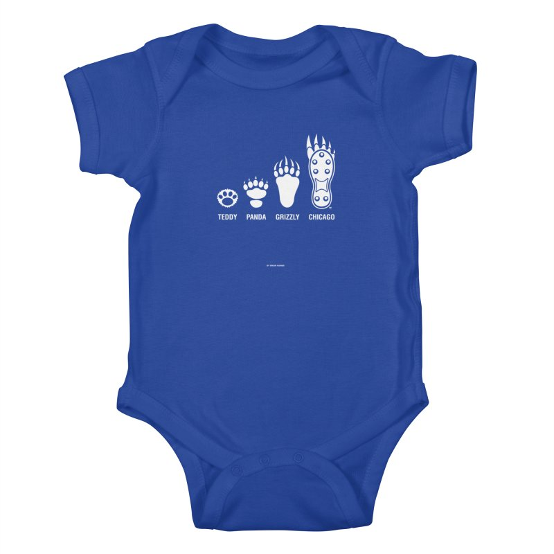 Bear Paws White Kids Baby Bodysuit by Brian Harms