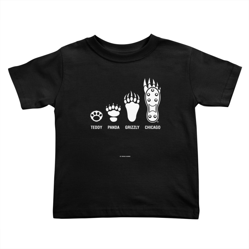 Bear Paws White Kids Toddler T-Shirt by Brian Harms