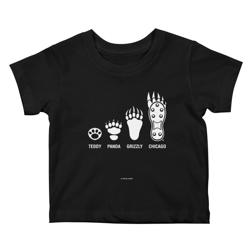 Bear Paws White Kids Baby T-Shirt by Brian Harms