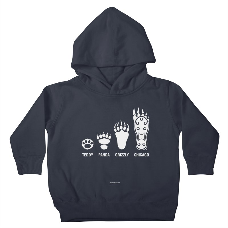 Bear Paws White Kids Toddler Pullover Hoody by Brian Harms
