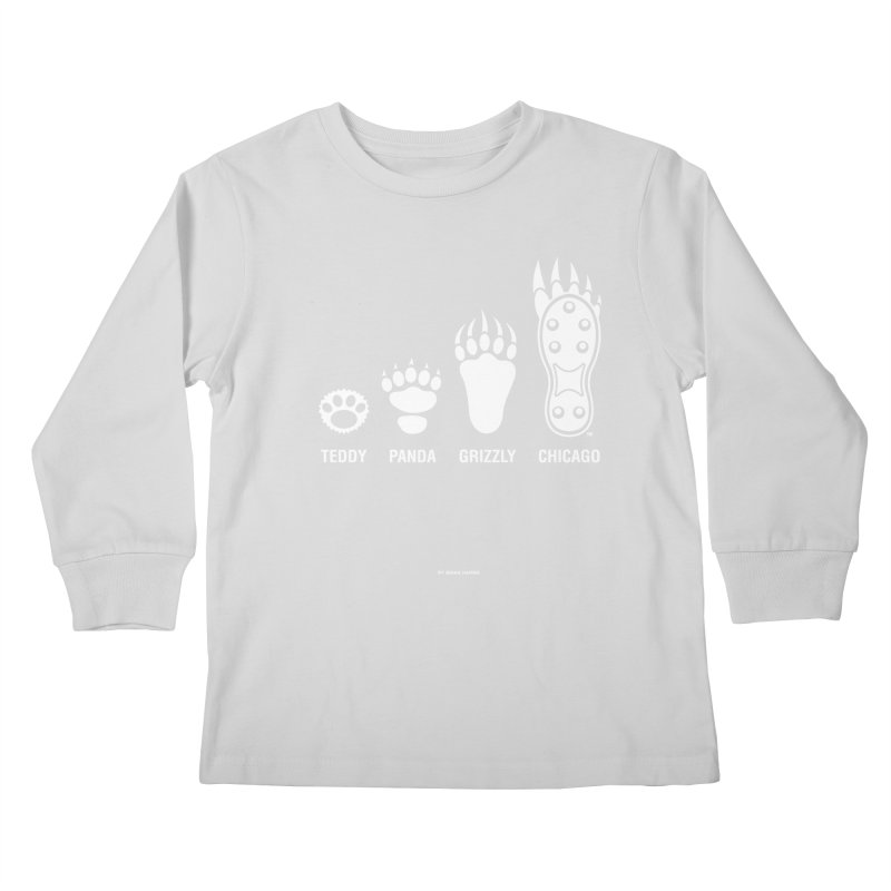 Bear Paws White Kids Longsleeve T-Shirt by Brian Harms