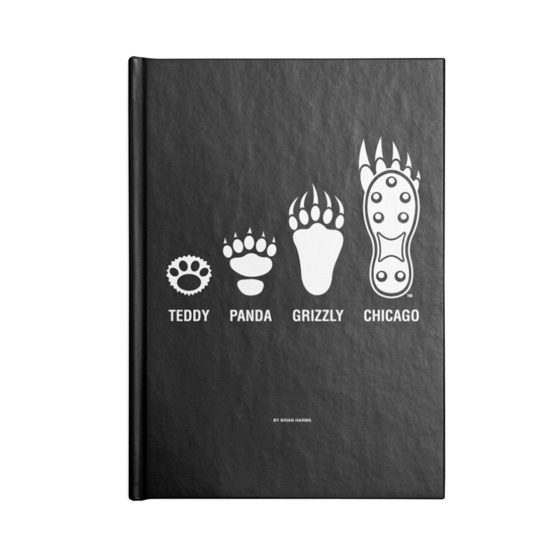 Bear Paws White Accessories Blank Journal Notebook by Brian Harms