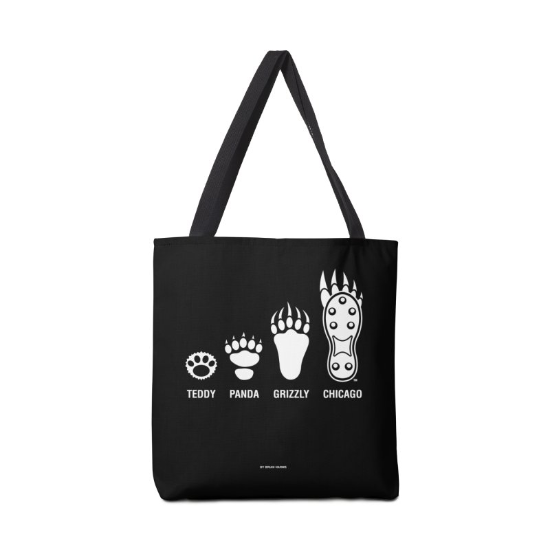 Bear Paws White Accessories Tote Bag Bag by Brian Harms