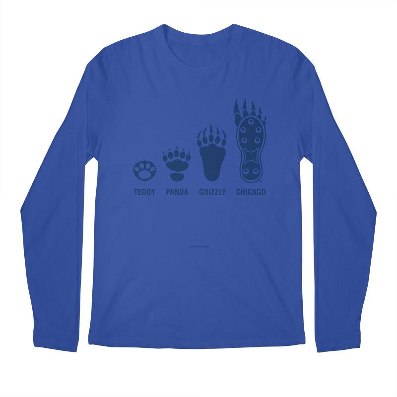 Bear Paws Blue Men's Regular Longsleeve T-Shirt by Brian Harms