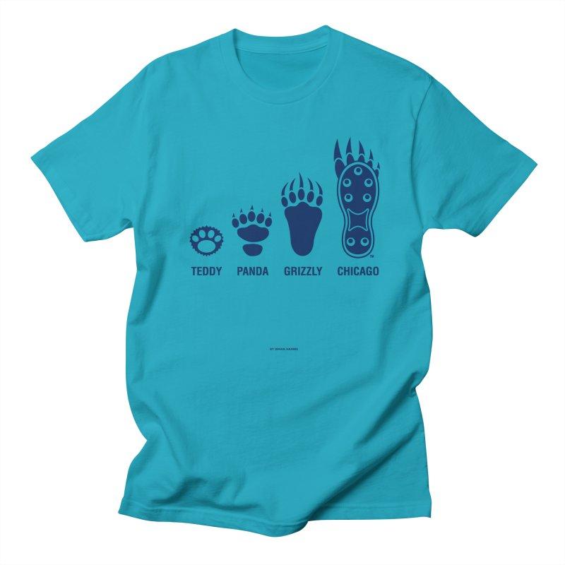 Bear Paws Blue Men's Regular T-Shirt by Brian Harms