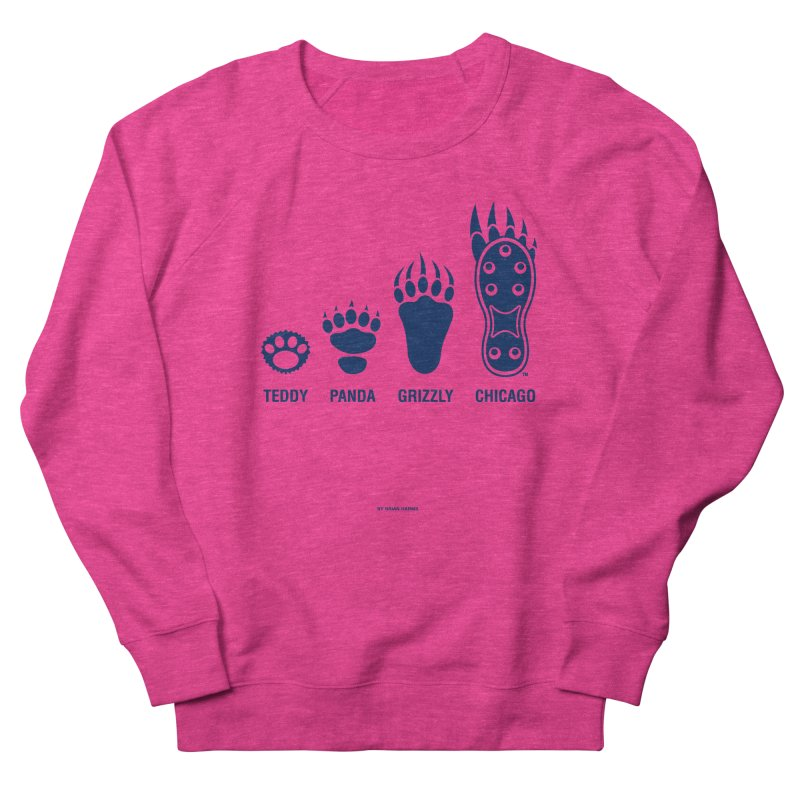 Bear Paws Blue Men's French Terry Sweatshirt by Brian Harms