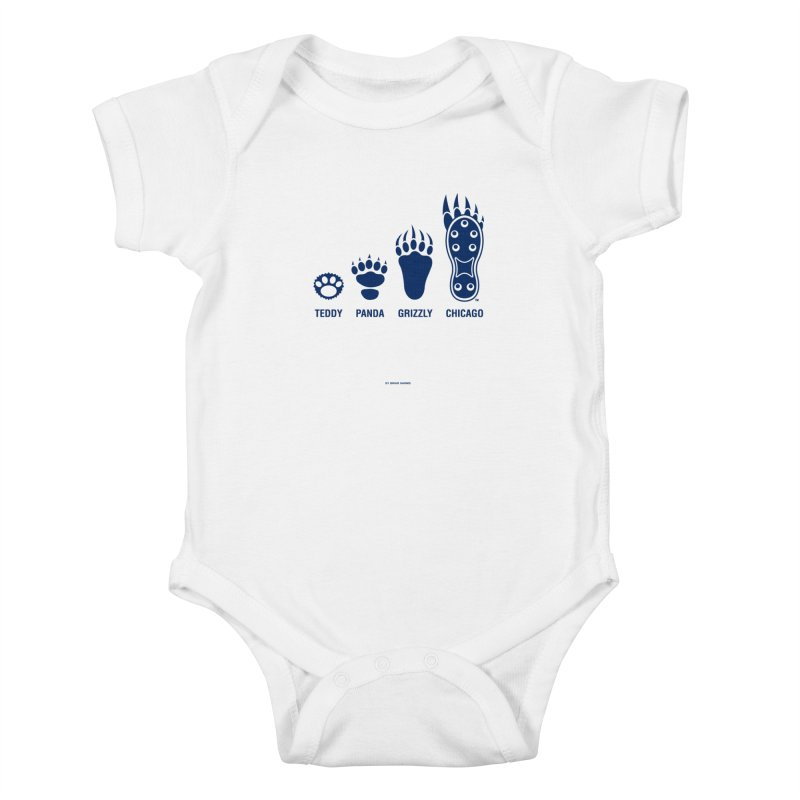 Bear Paws Blue Kids Baby Bodysuit by Brian Harms