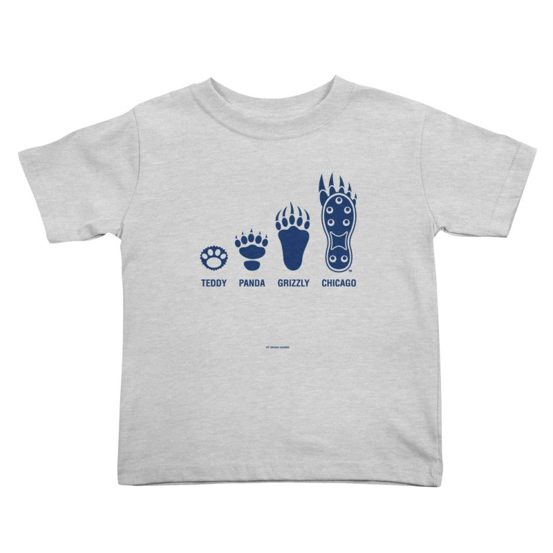 Bear Paws Blue Kids Toddler T-Shirt by Brian Harms