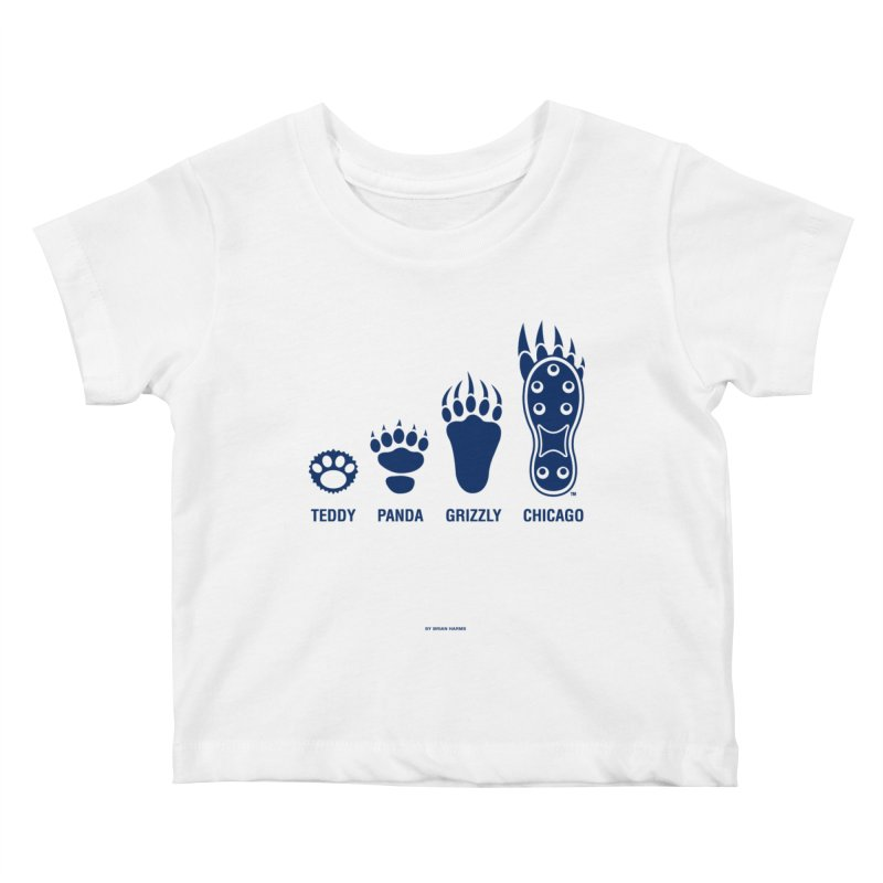 Bear Paws Blue Kids Baby T-Shirt by Brian Harms