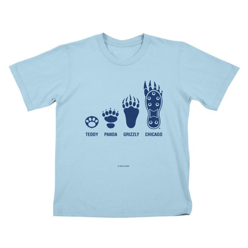 Bear Paws Blue Kids T-Shirt by Brian Harms