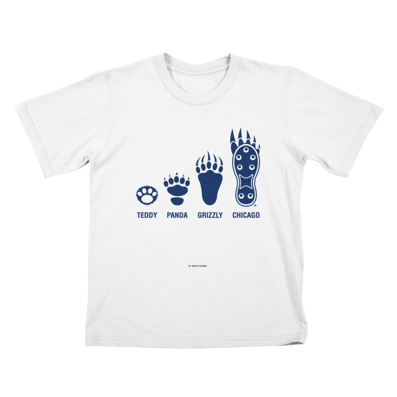 Bear Paws Blue Kids T-Shirt by Brian Harms