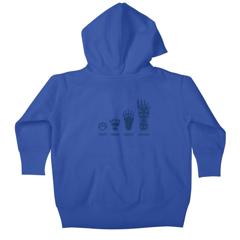 Bear Paws Blue Kids Baby Zip-Up Hoody by Brian Harms