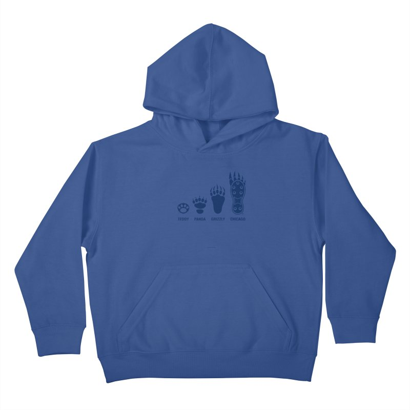 Bear Paws Blue Kids Pullover Hoody by Brian Harms