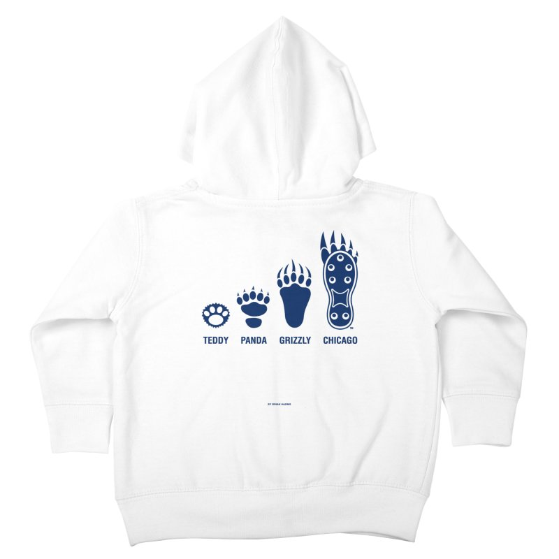 Bear Paws Blue Kids Toddler Zip-Up Hoody by Brian Harms