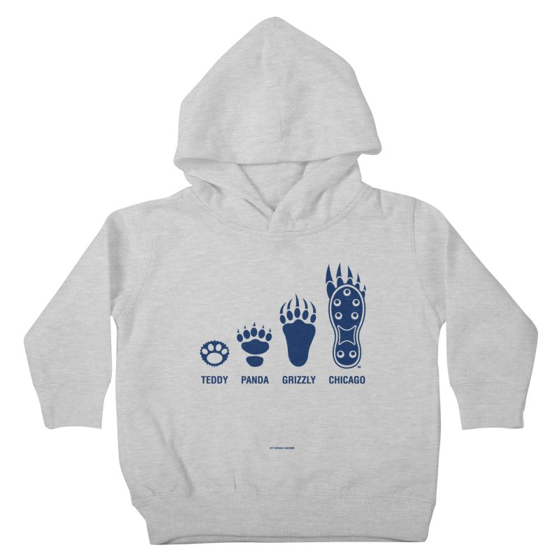 Bear Paws Blue Kids Toddler Pullover Hoody by Brian Harms