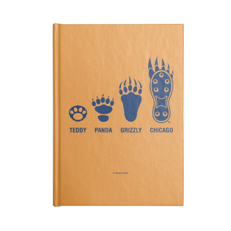 Bear Paws Blue Accessories Blank Journal Notebook by Brian Harms