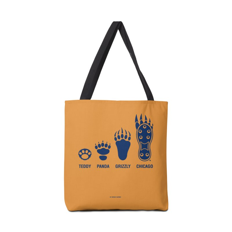Bear Paws Blue Accessories Tote Bag Bag by Brian Harms
