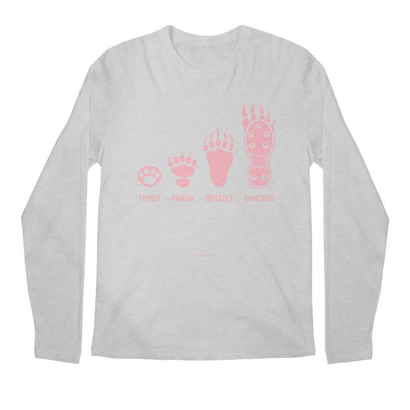 Bear Paws Pink Men's Regular Longsleeve T-Shirt by Brian Harms