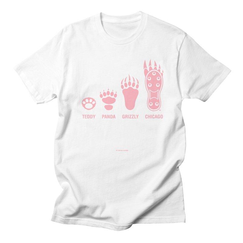 Bear Paws Pink Men's Regular T-Shirt by Brian Harms