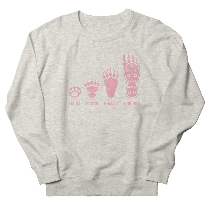 Bear Paws Pink Men's French Terry Sweatshirt by Brian Harms