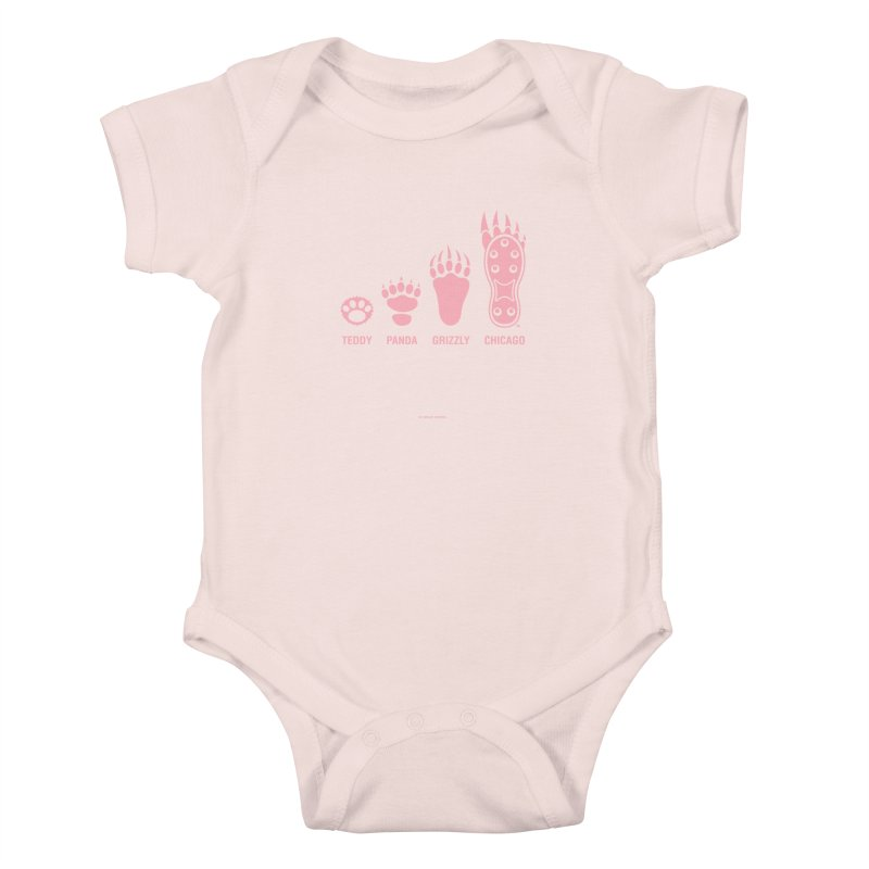 Bear Paws Pink Kids Baby Bodysuit by Brian Harms