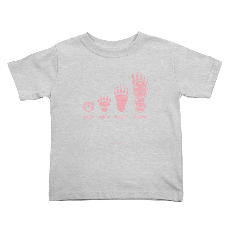 Bear Paws Pink Kids Toddler T-Shirt by Brian Harms