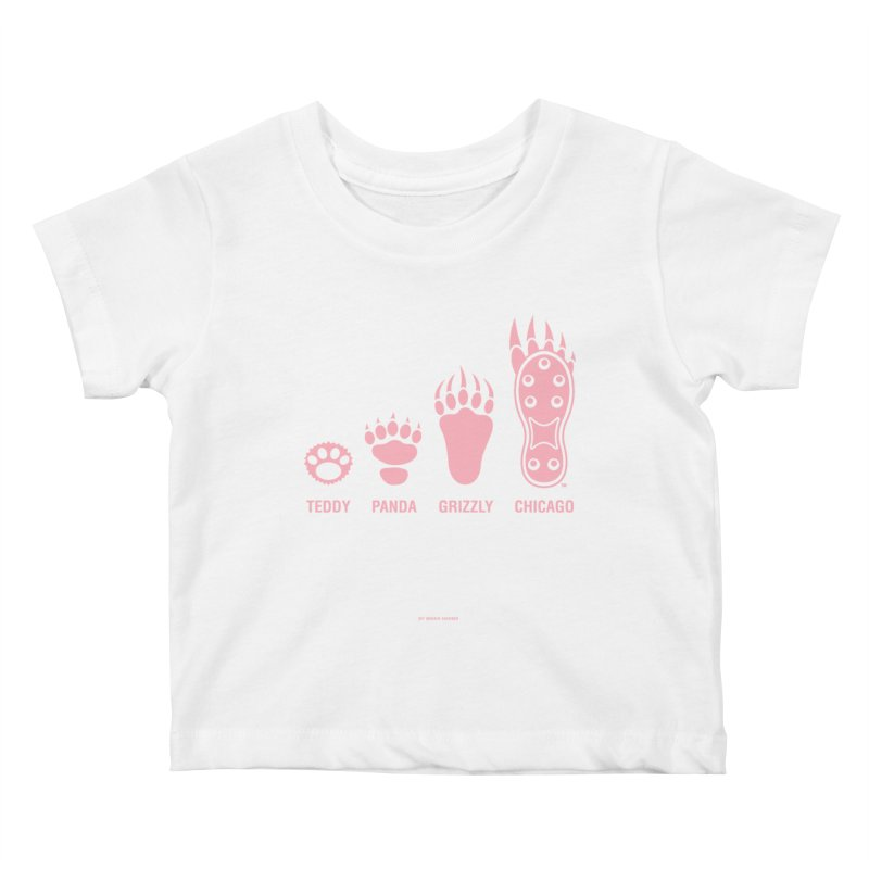 Bear Paws Pink Kids Baby T-Shirt by Brian Harms