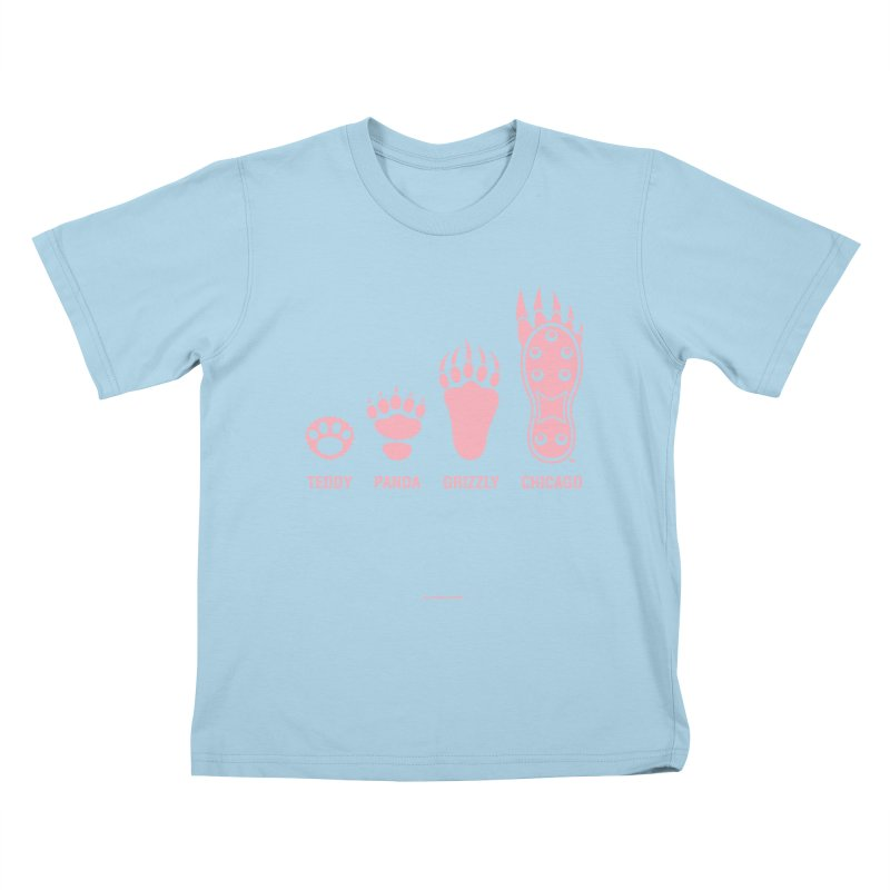 Bear Paws Pink Kids T-Shirt by Brian Harms