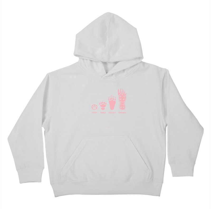 Bear Paws Pink Kids Pullover Hoody by Brian Harms